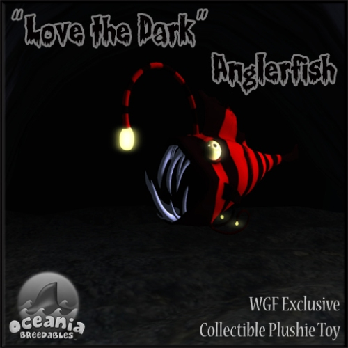 ~Oceania Breedables~ WGF Exclusive Love the Dark Anglerfish Plushie